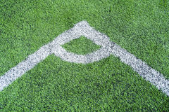 Football field conner. Pic of football field conner Royalty Free Stock Images
