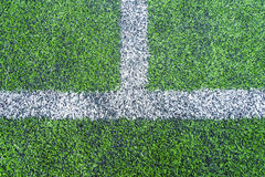 Football field conner. Pic of football field conner Royalty Free Stock Image