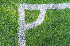 Football field conner. Pic of football field conner Royalty Free Stock Photography