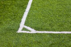 Football field corner Royalty Free Stock Image