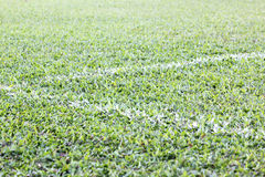 Football field corner Royalty Free Stock Photography