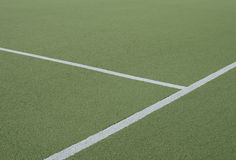 Football field and cross of white lines Stock Photography
