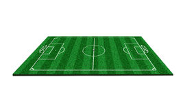 Football field 3d. Football field 3d competition sport victory         Lawn Sagna Stock Photo