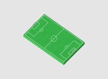 Football field 3d.  illustration.  Royalty Free Stock Photos