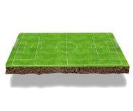 Football field 3d render Stock Photo