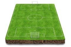 Football field 3d render Stock Image