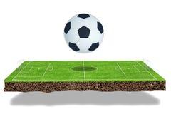 Football field 3d render Stock Photos