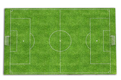 Football field 3d render Royalty Free Stock Photo