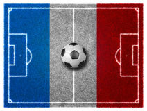 Football field. 3d Football/Soccer grassy field. France EURO 2016 Royalty Free Stock Photography