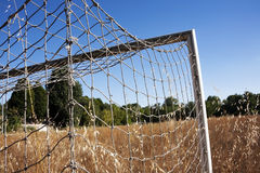 Football field fallow Royalty Free Stock Photography