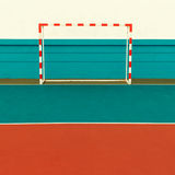 Football Field, Football gates. minimal style Royalty Free Stock Photography