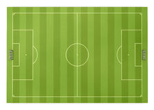 Football field front view Royalty Free Stock Photography
