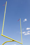 Football field goal. Image of field goal posts Stock Images