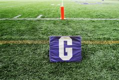 Football Field Goal Line Stock Image