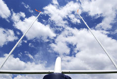 Football Field Goal Posts Royalty Free Stock Images
