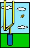 Football field goal vector illustration. Vector illustration of a football field goal Royalty Free Stock Image