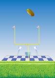 Football field and goalpost. Stock Photos