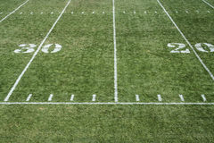 Football field grass Stock Image