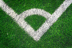 Football field grass conner Stock Image