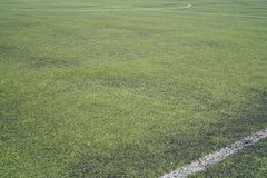 Football field and Green grass and The ground of footbal field royalty free stock photos