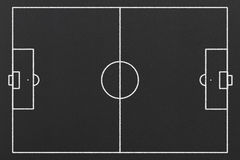 Football Field. Hand Drawn Football Field on a Black Chalkboard Stock Photos