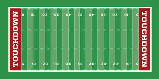 Football Field Illustration Royalty Free Stock Photography