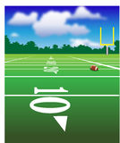 Football Field. Illustration of Football field with football and field Goal Stock Photography
