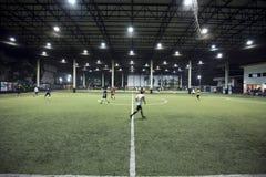 Football field indoor of Thailand Stock Photo