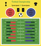 Football field Infographics Royalty Free Stock Photo