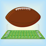 Football Field  Isolated On White Background Stock Photo
