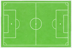 Football field layout Stock Image