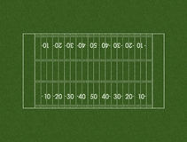 Football Field Layout Royalty Free Stock Photo