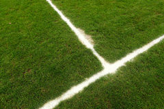 Football field line Royalty Free Stock Images