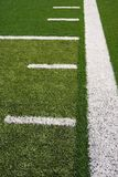 Football field lines Royalty Free Stock Photography