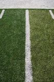Football field lines Stock Image
