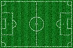 Football field with lines from above. An illustration of a Football field with lines from above Royalty Free Stock Image