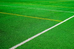 Football field lines stock images
