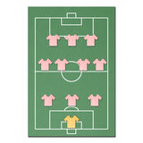 Football field made from tissue papercraft Royalty Free Stock Image