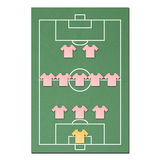Football field made from tissue papercraft Stock Images