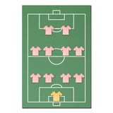Football field made from tissue papercraft Royalty Free Stock Images