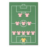 Football field made from tissue papercraft Stock Image