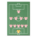 Football field made from tissue papercraft Royalty Free Stock Photos