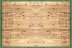 Football field made of wood. Stock Photography