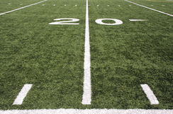 Football field markers Stock Photos
