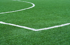 Football field with marking. Royalty Free Stock Image