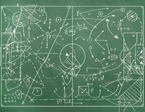 Football field with markings coaching setting Stock Photography