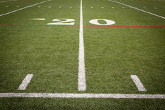 Football Field markings Stock Image