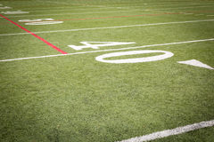Football Field markings Stock Photography