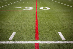 Football Field markings. On turf Royalty Free Stock Photography