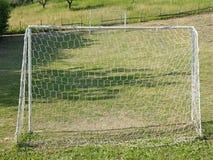 Football field meadow soccer goal Stock Photography